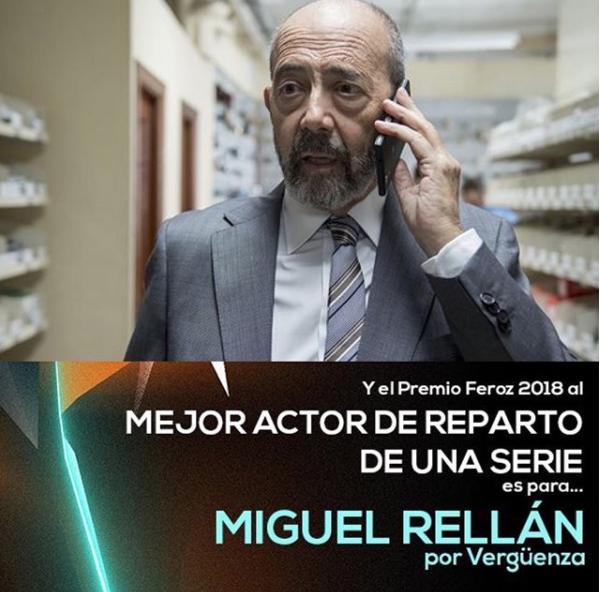 Mejor Actor de Reparto en una serie en los Premios Feroz 2018