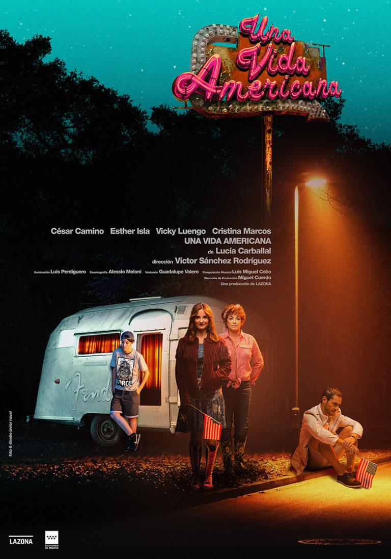 Cartel Una vida americana - Lucia Carballal